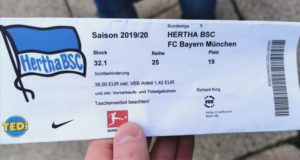 Hertha Berlin Match Ticket
