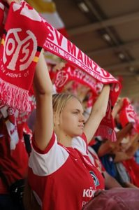 Football Supporter at the Mainz Opel Arena